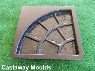 Quarter Circle Cobblestone Paver Mould