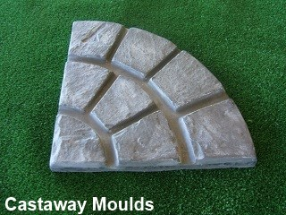 Quarter  Circle Cobblestone Paver