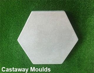 Hexagon Stepping Stone Paver Pathway