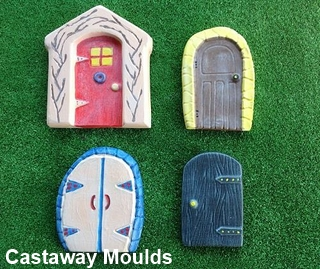 Pixie Fairy Door Set 3 & Pixie u0026 Fairy Door Mould Collection 3 - Castaway Mouldings u0026 Designs ...